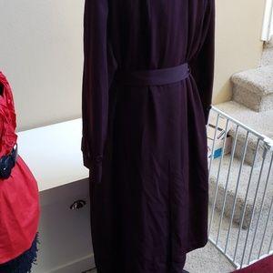 Jacqueline Ferrar Jackets & Coats - Burgundy Trench coat